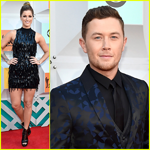 The Voice's Cassadee Pope & Idol's Scotty McCreery Attend the ACM Awards 2016!