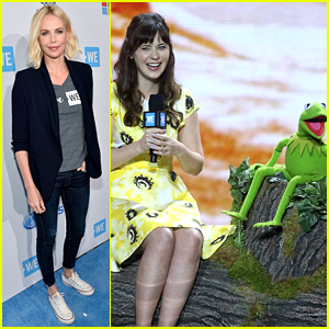 Charlize Theron & Zooey Deschanel Lend a Helping Hand at WE Day 2016!