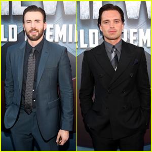Chris Evans & Sebastian Stan Rep Team Cap at 'Civil War' Premiere