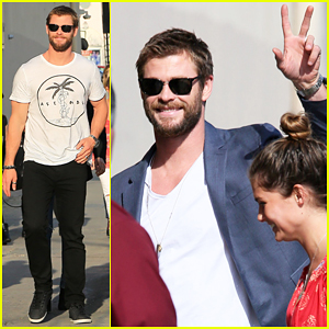 Chris Hemsworth Catches 'Broad City's Ilana Glazer & Abbi Jacobson Drilling Into His Dressing Room (Video)!