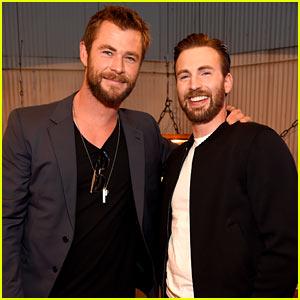 Chris Hemsworth & Chris Evans Buddy Up at MTV Movie Awards 2016