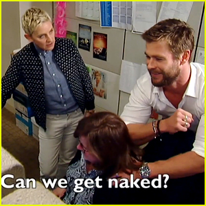 Chris Hemsworth Surprises a Secretary with Ellen DeGeneres!