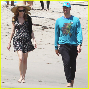 Chris Martin Goes for Malibu Beach Stroll with Heather Graham
