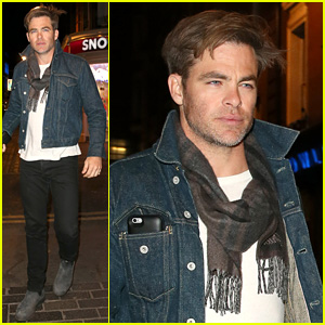 Chris Pine Has a Night Out in London