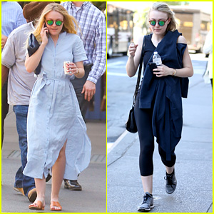 Dakota Fanning Looks All Ready for Spring in NYC