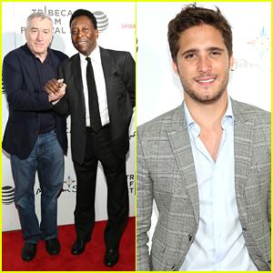 Robert De Niro & Diego Boneta Step Out For 'Pele' Drama Pic Premiere at Tribeca