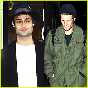 Douglas Booth & Matt Smith Attend Hayden Kays Art Viewing
