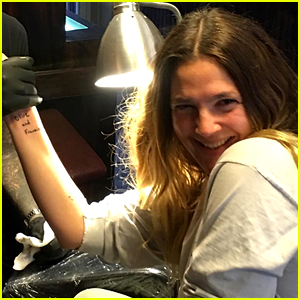 Drew Barrymore Gets New Tattoo with Her Daughters' Names