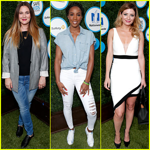 Drew Barrymore & Kelly Rowland Participate in Safe Kids Day 2016