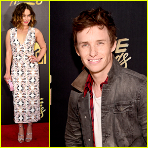 Eddie Redmayne & Emilia Clarke Present at MTV Movie Awards 2016