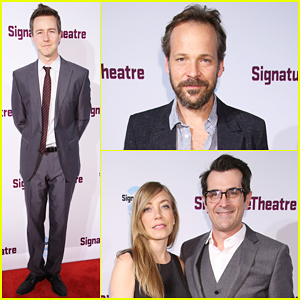 Edward Norton & Peter Sarsgaard Hit The Stage At Signature Theatre Gala 2016!