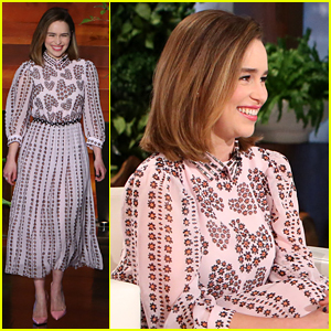 Emilia Clarke Shows Off Accent Skills While Playing 'Heads Up'