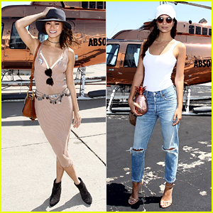 Emily Ratajkowski & Jamie Chung Flew the Copper Chopper to Coachella!