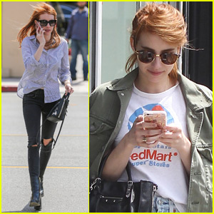 Emma Roberts Loves Vintage Shopping in LA