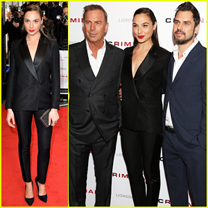 Gal Gadot Teams With Kevin Costner To Premiere 'Criminal' In London - Watch Trailer!