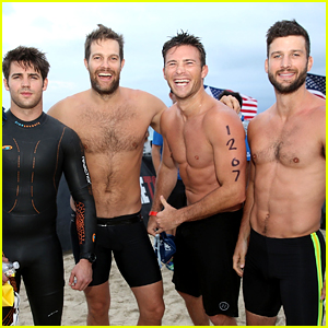 Geoff Stults & Parker Young Show Off Hot Bods for a Triathlon!