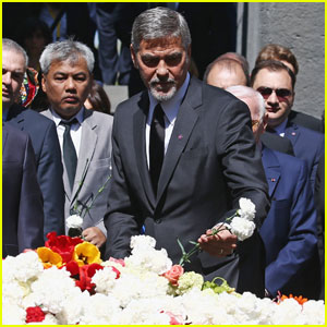 George Clooney Pays Visit to Genocide Memorial in Armenia