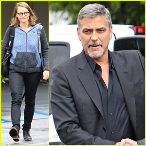 George Clooney & Jodie Foster Meet Up Before 'Money Monster' Promo Tour Begins
