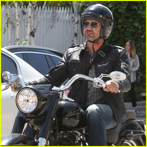 Gerard Butler Takes a Mid-Week Motorcycle Ride in WeHo