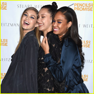 Gigi & Bella Hadid Show Their Support for Pencils of Promise with Joan Smalls!
