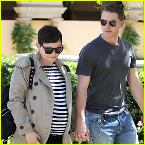 Pregnant Ginnifer Goodwin & Husband Josh Dallas Enjoy a Lunch Date