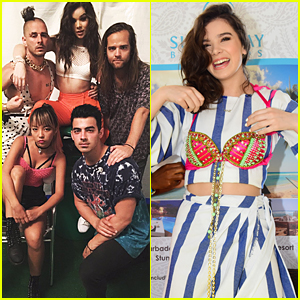 Hailee Steinfeld Performs With DNCE For Concert Event in Barbados
