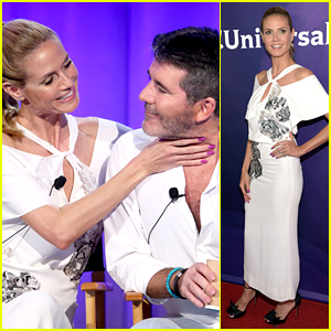 Heidi Klum & Simon Cowell Get Playful at NBCUniversal Summer Press Day
