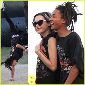 Jaden Smith Does Cartwheel at Coachella 2016 with Sarah Snyder