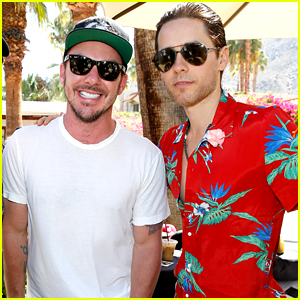 Jared Leto Hangs with His Brother Shannon at Coachella!