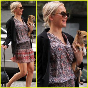 Jennifer Lawrence Steps Out With Her Pup Pippi