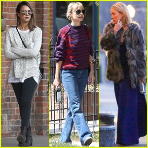 Jessica Alba, Nicole Richie & Kate Hudson Head to an Aspen Wedding