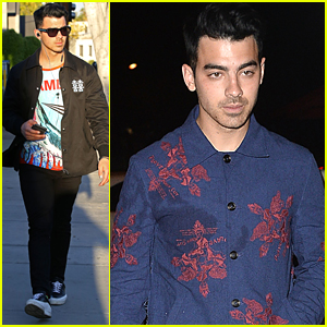 Joe Jonas Dines Out at Craig's After Going Back To Dark Hair Color
