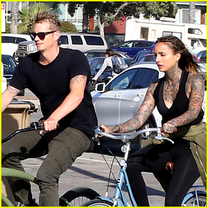 Joel Kinnaman Goes for Bike Ride with Cleo Wattenstrom