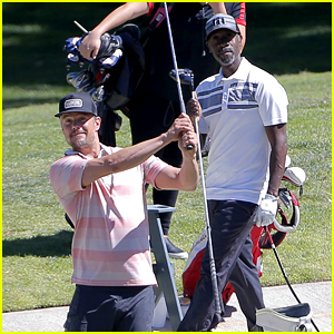 Josh Duhamel Hits Driving Range With Don Cheadle