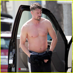 Josh Duhamel Goes Shirtless For Quick Change After Gym