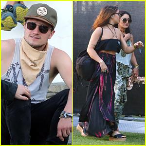 Josh Hutcherson & Vanessa Hudgens Survive Day 1 of Coachella 2016