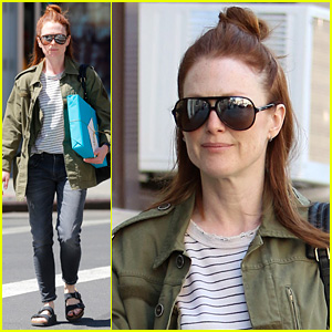 Julianne Moore Encourages New Yorkers to Vote in the Primaries Today!