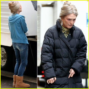 Julianne Moore Debuts Blonde Hair on the Set of 'Wonderstuck'