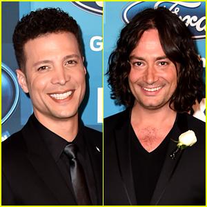 Justin Guarini & Constantine Maroulis Hit 'Idol' Finale Carpet!