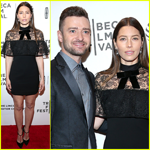 Justin Timberlake Supports Jessica Biel at TFF Movie Premiere!
