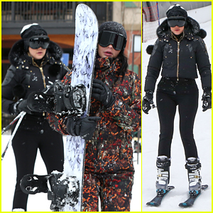 Khloe Kardashian & Sisters Hit Slopes for Some Snowboarding