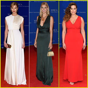 Karlie Kloss & Fellow Models Walk Carpet at White House Correspondents' Dinner 2016