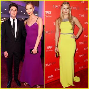 Karlie Kloss Wears Purple for Prince at Time 100 Gala with Boyfriend Joshua Kushner