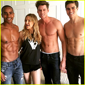 Kate Hudson Starts Off Her Birthday with Visit From Hot Shirtless Models!