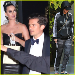 Katy Perry & Orlando Bloom Leave Parker Institute Launch Together After Walking Carpet Separately