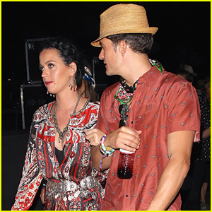 Katy Perry & Orlando Bloom Lock Arms In Matching Outfits At Coachella 2016!