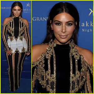 Kim Kardashian Attends Party in Vegas After Travel Trouble