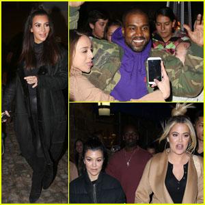 Kim Kardashian & Kanye West Go Bowling With the Family!
