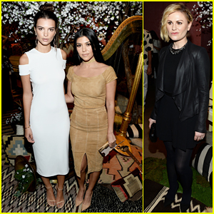 Kourtney Kardashian & Emily Ratajkowski Buddy Up At Alice + Olivia Runway Show!