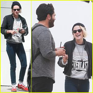 Kristen Stewart Shares a Laugh with BFF CJ Romero